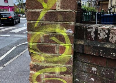 Graffitti vandalism